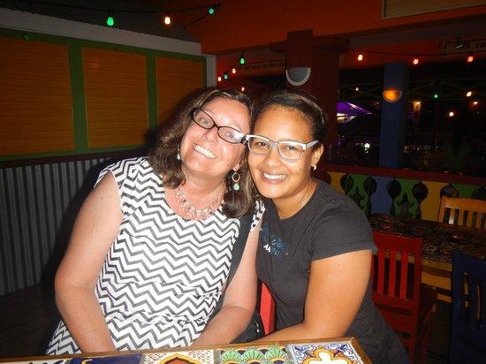 Iguana Cantina: My wife with Alida!