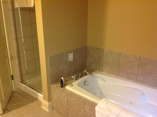 Calabogie Peaks: jacuzzi tub and separate shower