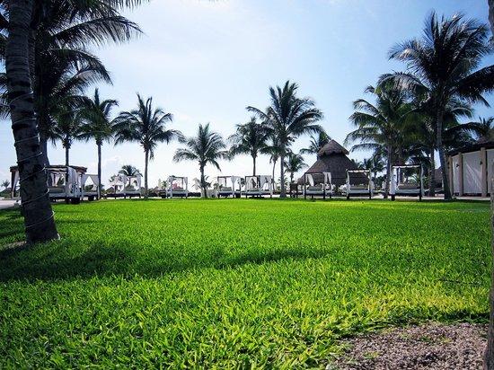 Secrets Maroma Beach Riviera Cancun: Zona de camas balinesas