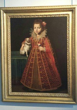 Musée Fesch : Ritratto di una bimba con cagnolino di Pier Francesco Cittadini