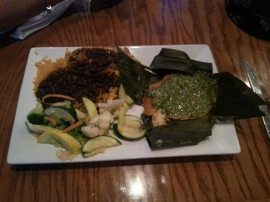 Doc Ford's Rum Bar & Grille: the banana leaf snapper