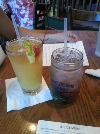 Doc Ford's Rum Bar & Grille Ft. Myers Beach: blackberry mint mojito and some rum drink lol