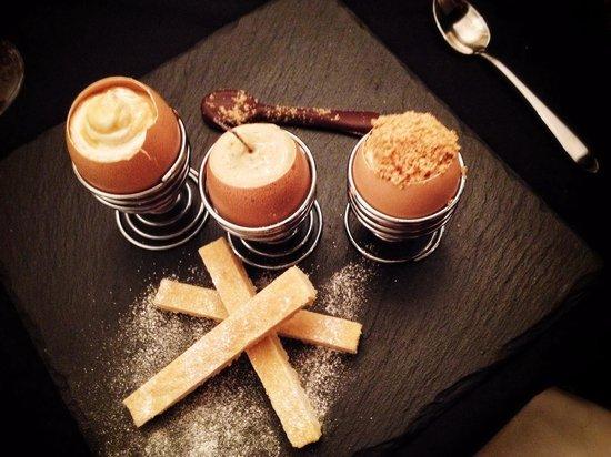 Porto Restaurant : Egg and soldiers dessert