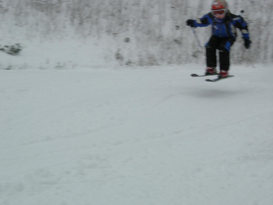 Catamount Ski Area: My young son finding air