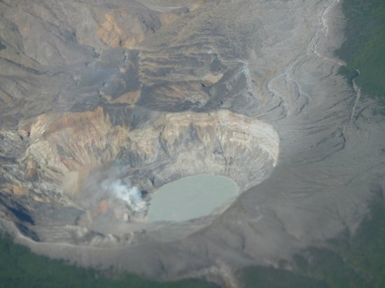 Poas Volcano: the poas from our airplane