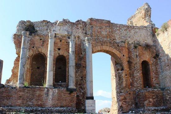 Greek Theatre : Mt. Etna through the arch