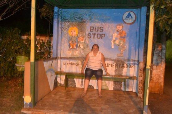 Hostel Paudimar Campestre: Parada do Ônibus Circular