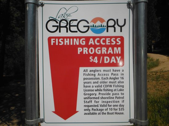 Lake Gregory Regional Park : $4 more to fish