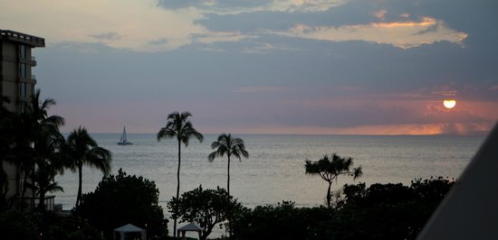 Ka'anapali Beach Club: View from our mountain-facing suite
