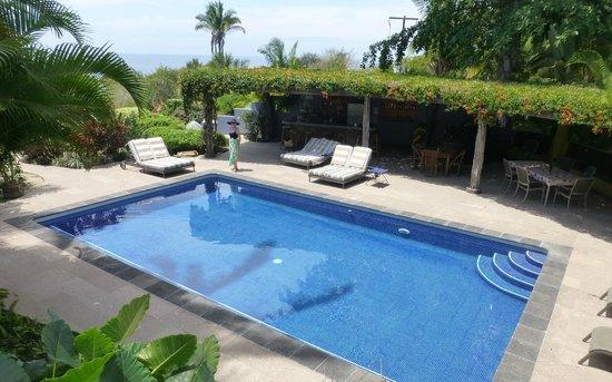 Hacienda de la Costa: Poolside by the 'Honor Bar'