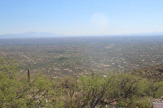 Tucson Mountain Park: Looking at Tucson from the mountain