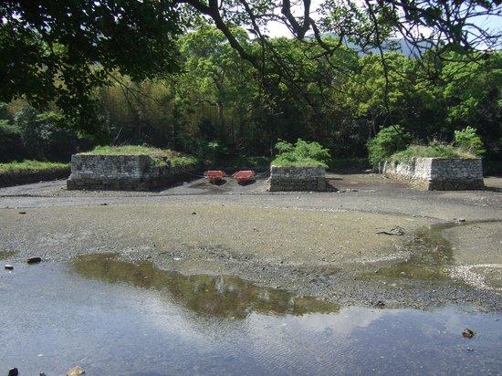 Tshimahan Ofunae Remain: 修復されたお船江跡