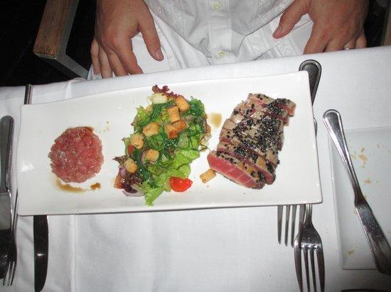 Bistro Le Clochard: tuna sashmi