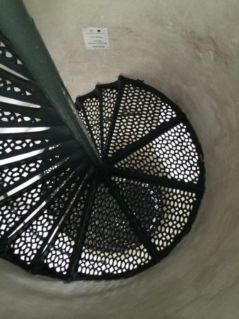 Tawas Point Lighthouse: Looking up the steps of the lighthouse