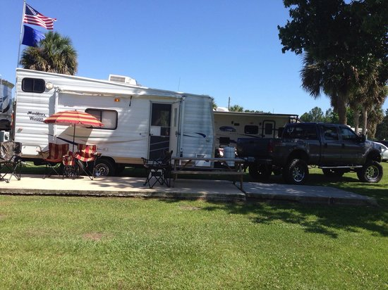 Wekiva Falls RV Resort : Love this camp site! Perfect view. #345
