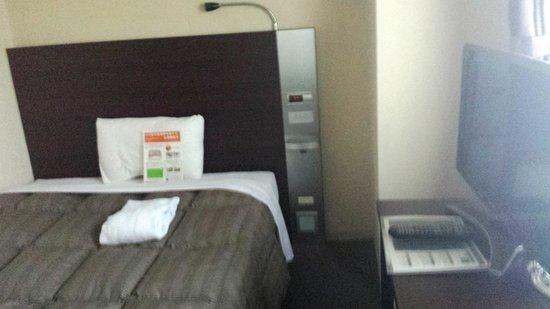 Comfort Hotel Okayama : ベッド
