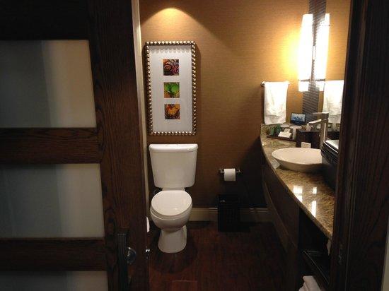 Hilton Palacio del Rio: Sliding door bathroom