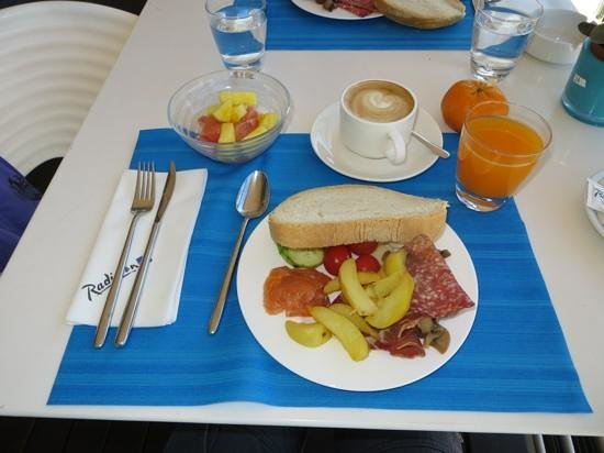 Radisson Blu es. Hotel, Roma: Selections from the breakfast buffet