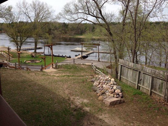 Rivers Edge Resort and Motel: View from the deck of unit 6