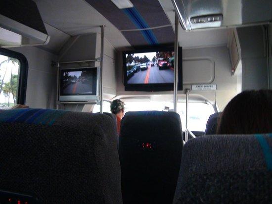 Miami Tour Company : Внутри экскурсионного автобуса
