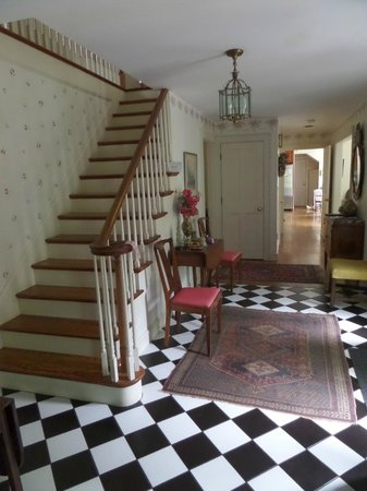 This Old House Bed & Breakfast: The beautiful stairway to the rooms.