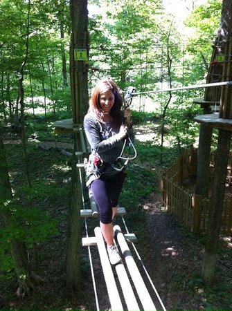 Go Ape Treetop Adventure Course: just getting started