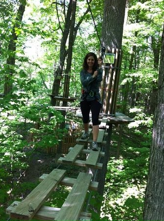 Go Ape Treetop Adventure Course: obstacles were easy to difficult...and always fun