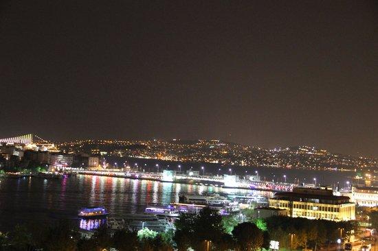Hayriye Hanim Konagi Hotel: Night view from hotel balcony