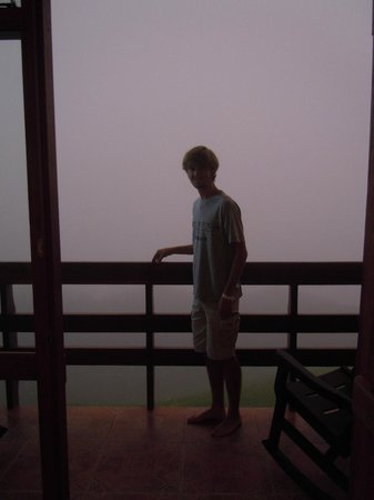El Establo: When the clouds move across the grounds you can't see anything...it was cool