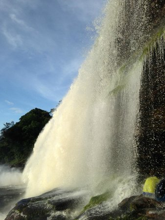 Campamento Canaima : you can hike behind the waterfalls