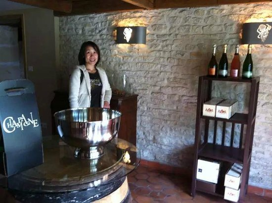 Champagne Nicolo & Paradis : The tasting room