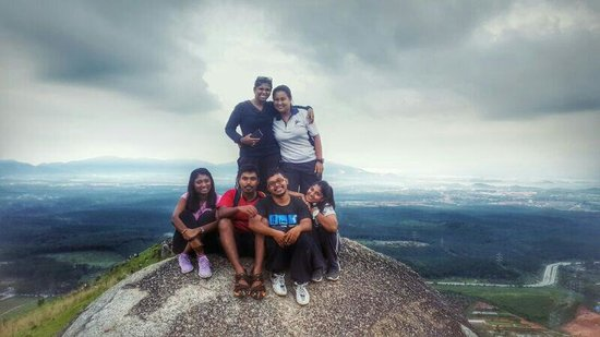 Bukit Broga Hill: Still from one piece of rock