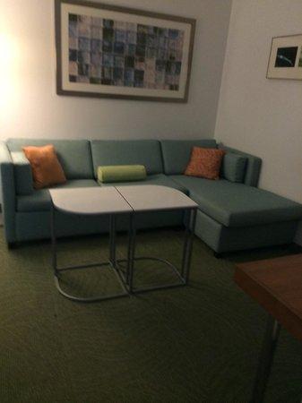 SpringHill Suites Cincinnati Airport South : Sitting area, very spacious.