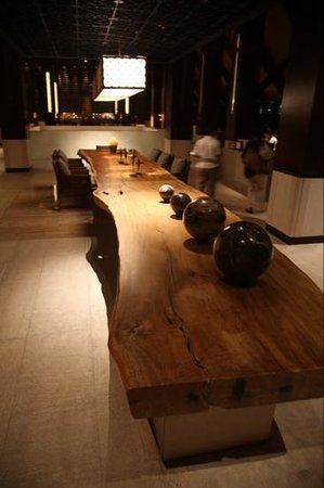 Fairmont Sanur Beach Bali: The coolest table I have ever seen, very large