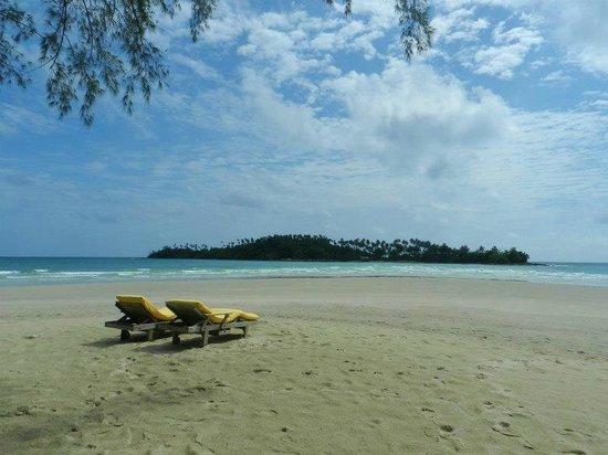 Soneva Kiri Thailand: プライベートビーチ