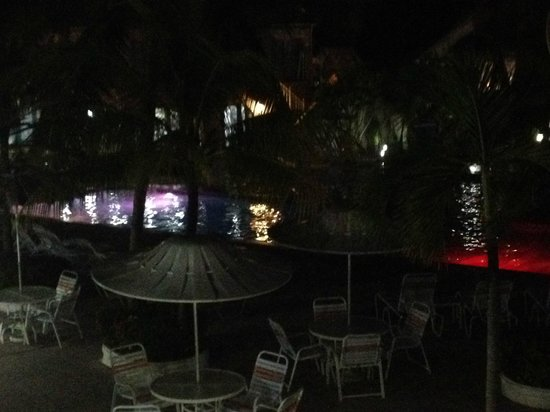 Caribbean Palm Village Resort: Pools have colored lighting each night