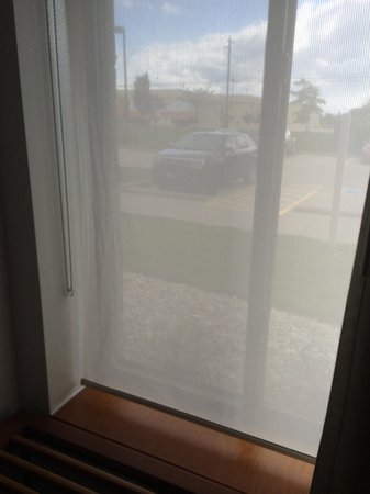 SpringHill Suites Cincinnati Airport South : The window was literally right by the bed so I had to keep the drapes pulled but no biggie...