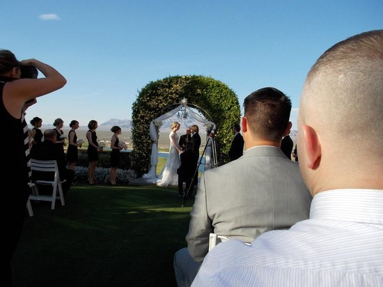Las Vegas Paiute Golf Resort Lv Outdoor Wedding Area