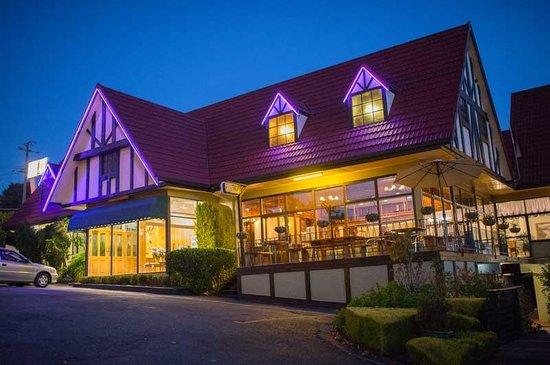 Village Family Motor Inn : Village Motor Inn at night
