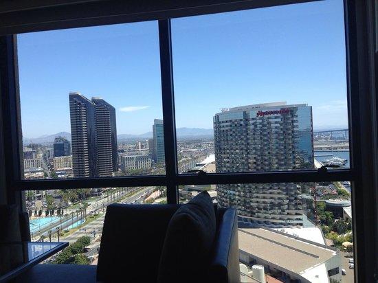 Manchester Grand Hyatt San Diego : Visão da janela do quarto