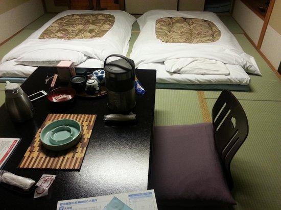 Kinugawa Plaza Hotel: ryokan bed
