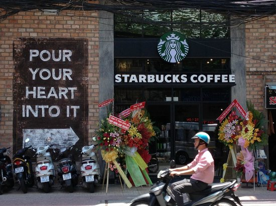 New Starbucks just open in front of An An 2 hotel