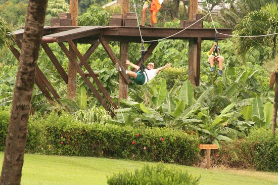Maui Zipline Company: Letting go on the zipline!