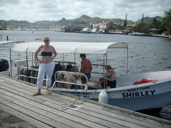 Scuba Steve's Diving Ltd.: Relaxing on the dive boat in-between dives