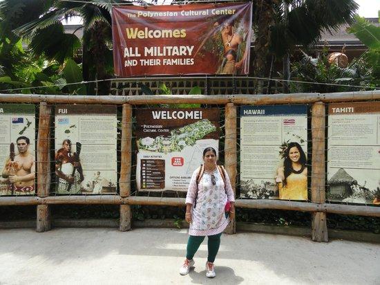 Polynesian Cultural Center: entance area