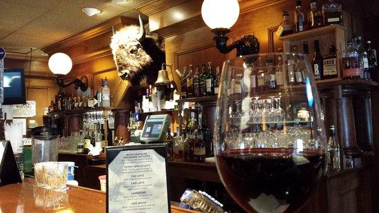 Webb's Captain's Table: Cabernet and a bufallo head