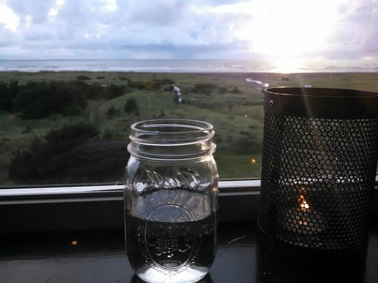 Pickled Fish Restaurant: Drinking in the view.