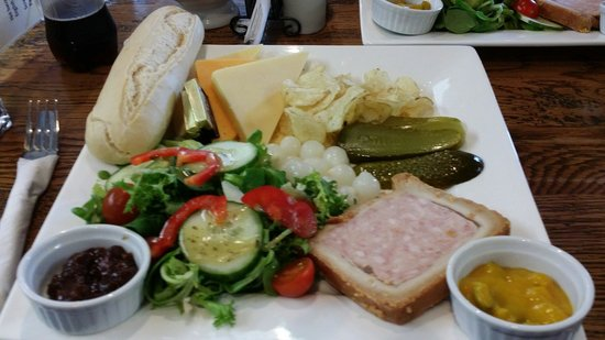 """Green and Pleasant: The menu stated """"Cheese Ploughmans"""". Outstanding for just six quid!"""