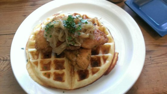 Worth Our Weight : The onion drenched waffle.