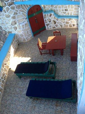 Blue Cave Castle: Lower Tower patio